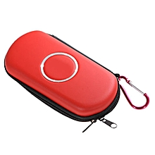 Air Form Hard Carry Case with Mountaineering Key Buckles for PSP 1000/2000/3000 (Red) - Red + Black