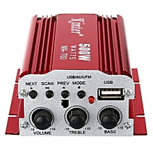 MA700 IR Control FM MP3 USB Playback Digital Audio Amplifier-Red
