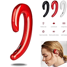 Bone Conduction Wireless Bluetooth Headset Stereo Sports Headphone Universal-red