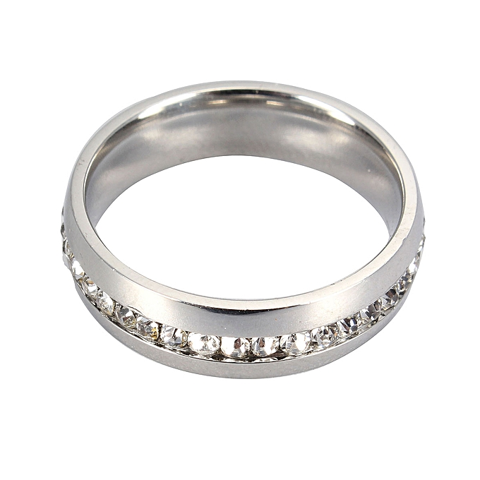 Luxury Men Women Stainless Steel Wedding Ring Anium Engagement Size 6 15 Gift