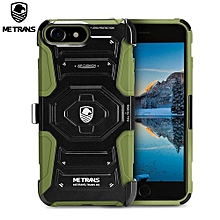 Three-piece Case Anti-knocking Anti-falling Cover For IPhone 7 - Army Green