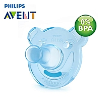 AVENT 2Pcs Baby Silicone Dummy Soothers Toddler Nipple Baby Pacifiers For 0-3m Blue
