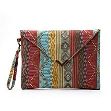 bluerdream-Women Envelope Clutch Handbag Purse Tote Ladies Bag-As Shown