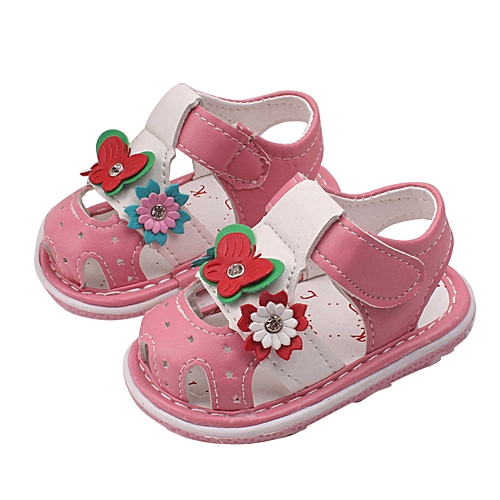 60acf8395c07 Generic bluerdream-Toddler Baby New Flowers Girls Sandals With Sound Soft-Soled  Baby Shoes Sandals - Pink