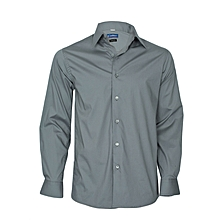 Charcoal Grey Long Sleeved Slim Fit Shirt
