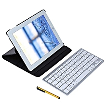 Rotating Leather Stand Smart Cover Case With Wireless Bluetooth Keyboard For IPad 2 / 3 / 4