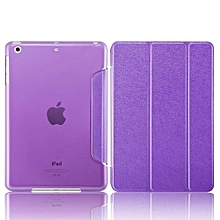 """For New IPad 9.7"""" Case, Ultra Slim Smart Cover Trifold Stand With Auto Sleep/Wake Function For Apple 2017 New IPad 9.7 Inch, Silk-Purple"""