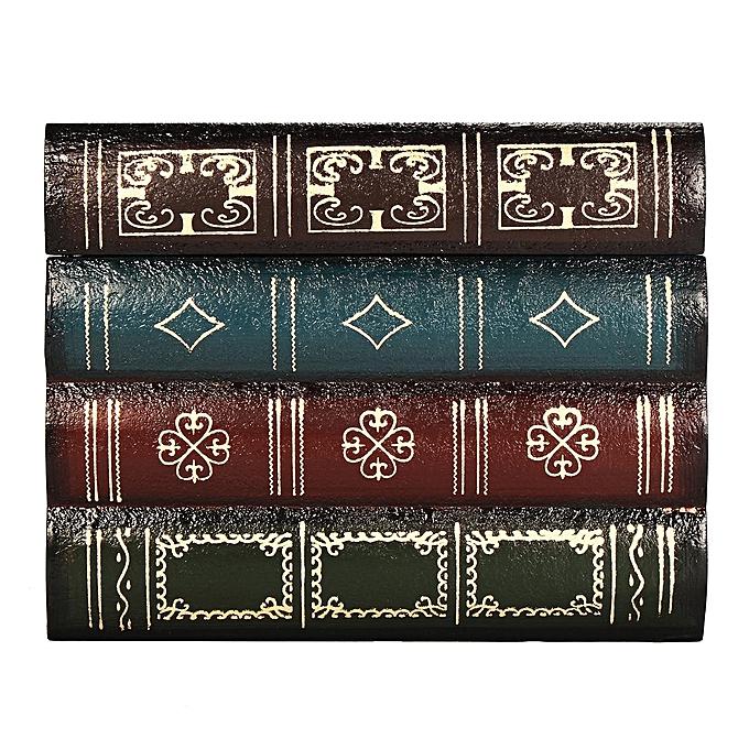 Vintage Decorative Fake Book Hiddien Secret Storage Box Shelf DecorPatternC S