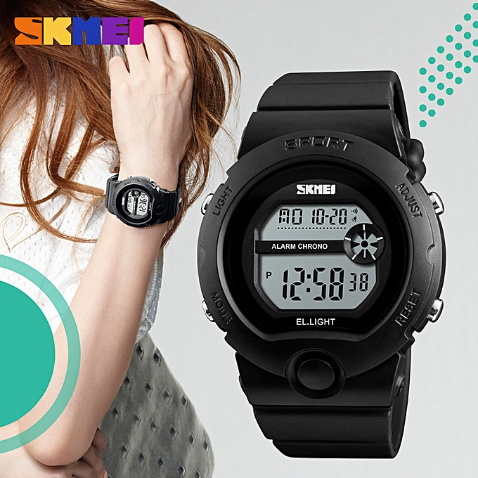 6ecc35c8b SKMEI New Women's Digital Watches Luxury Brand LED Electronic Sport Watch  Waterproof Outdoor Sport Watches For