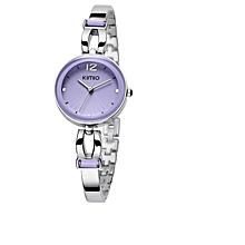 Rhinestone Adorned Strap Bracelet Watch