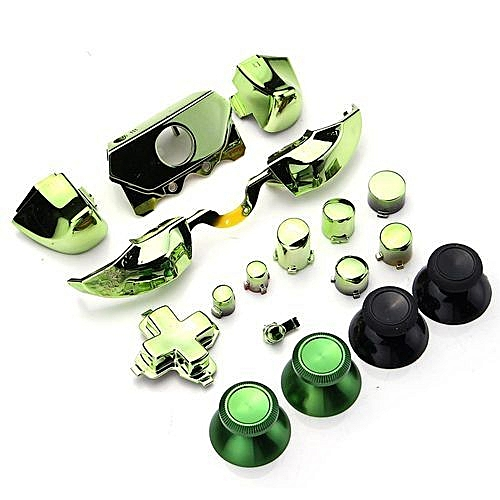 Bumpers Triggers Buttons Set+Tool For Xbox One Elite Controller Dpad LB RB  LT RT - Green