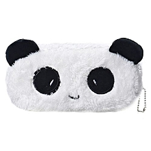 Cartoon Pencil Case Plush Large Pen Bag For Kids -White
