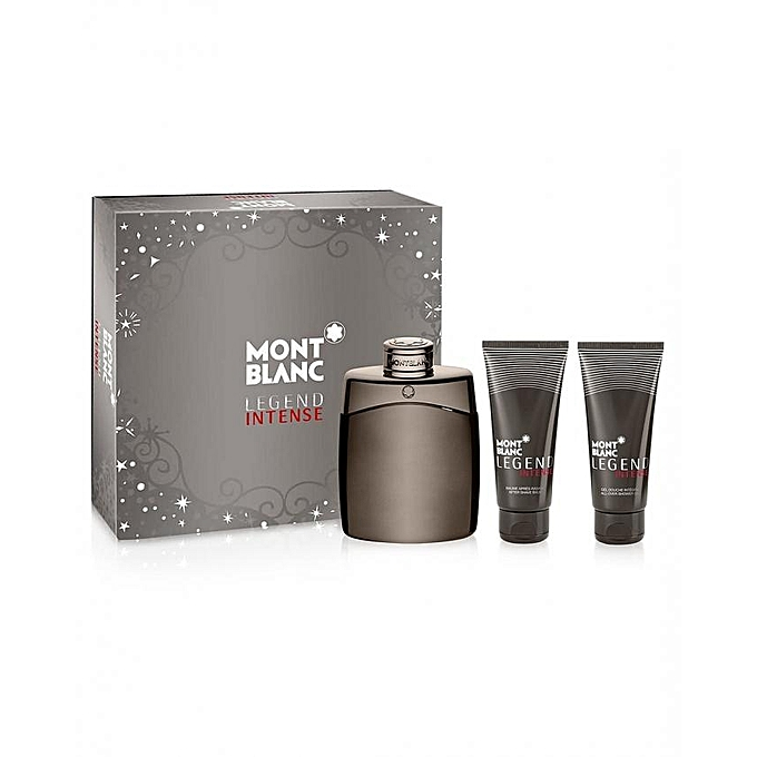 Perfume Refill Kenya: Buy MONT BLANC Legend Intense Gift Set 100ml EDT Spray+100ml After Shave Balm+100ml Shower Gel