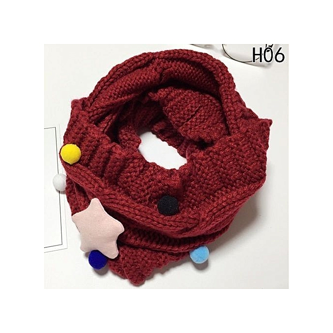 Buy Fashion New Design Soft Candy Color Neck Bib Scarfs Kids Knitted