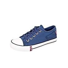 Blue Unisex Canvas-Slipon