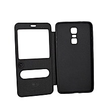 Double Window Flip Cover for Infinix X601 - Black