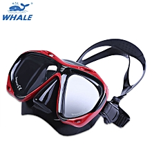 Professional Scuba Myopia Hyperopia Swimming Diving Mask Goggle - Red