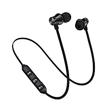 Portable Wireless Headphones Bluetooth Earphones Sports SweatProof Black&Grey