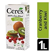 Juice Cranberry/Kiwi 100% - 1 Litre