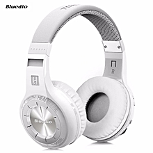 Bluedio Hurricane H-Turbine Bluetooth 4.1 Wireless Stereo Headphones Headset With Mic (White)