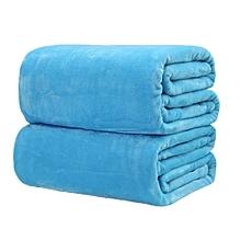 Fleece Throw Blanket, Baby Blue