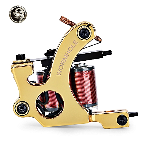 Fashion Tattoo Machine Liner Shader Gun - Gold
