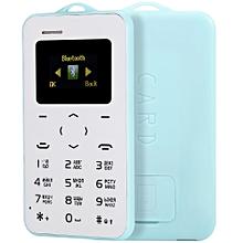 AIEK C6 1.0 inch Pocket Card Phone Russian Keyboard GSM Bluetooth 2.0 Calendar Alarm LIGHT BLUE