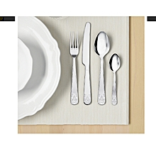 24-piece cutlery set, stainless steel