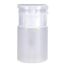 60ML Nail Polish Remover Pump Dispenser Liquid Makeup Bottle (White)