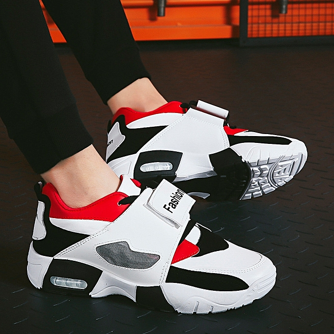 249385b982797e Men Sneakers Running Shoes Trainers Lace-up Outdoor Athletic Sport Shoes  Comfortable-red02