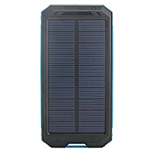 Power Bank 300000mAh Portable Dual USB Waterproof Solar Charger Case No Battery # Blue