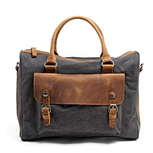 Stylish Vintage Canvas Laptop Bag (Grey). Fits all laptop sizes plus extras