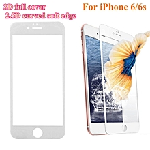 Buy 1 Free 1 (2pcs) Anti Blue Ray Tempered Glass Screen Protector Film For IPhone 6/6s White