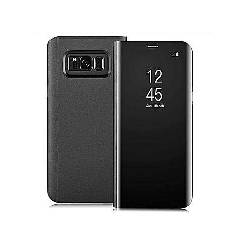 more photos a6d6f 31aa5 Generic Clear View Flip Case For Galaxy S8 Plus (NO SENSOR) (Magnetic  Version) And Screen Protector