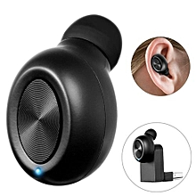 Wireless Earbuds, TWS Bluetooth Earphone Mini Invisible Headphone Car Headset Magnetic Charger With HD Mic - Black