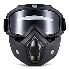 MT - 009 Motorcycle Goggles with Mask-Grey