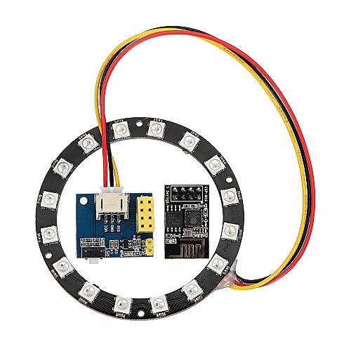 DIY WS2812 Light Ring Electronic Maker Student Education ESP8266 ESP01S 01  RGB LED Smart Wifi Kit for Arduino