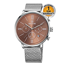 Silver Crystalite Chronograph Men's Watch