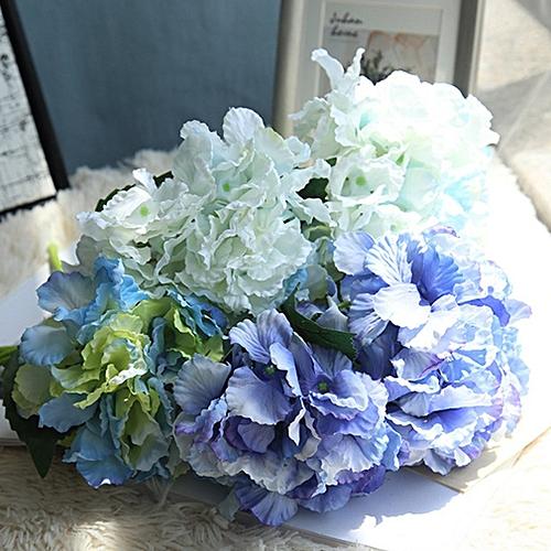 f4db2d79ceb Artificial Silk Fake Flowers Hydrangea Peony Bridal Bouquet Silk Flower  light blue