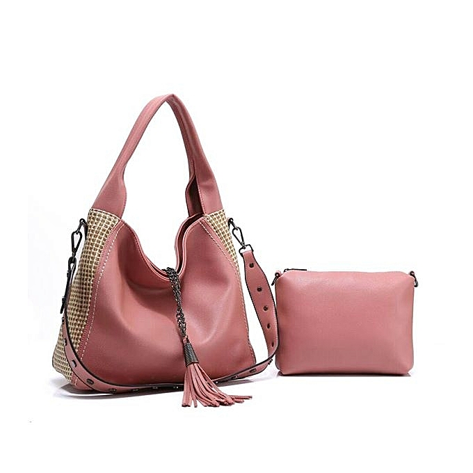 077539f49187e5 Generic Pink 2-in-1 Leather Ladies Handbags @ Best Price Online ...