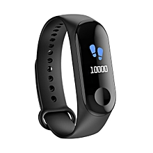 "W3 - 0.96"" 105mAh Bluetooth 4.0 Fitness Tracker Smart Bracelet - Black"