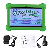 7 inch Screen Children Tablets 2G+16G A33 Quad Core for Android 4.4 Tablet PC green