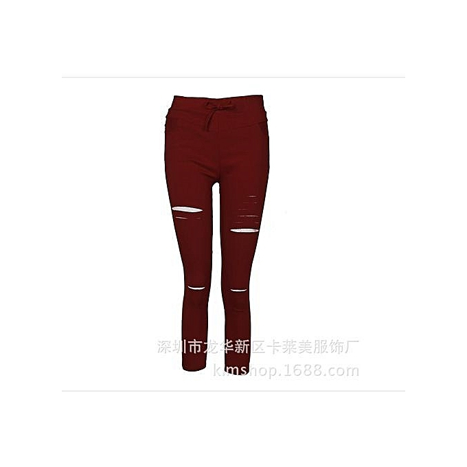 Refined Fashion Womens Stretch Ripped Jeans Ladies Slim Fit Skinny Jeans  Trousers Casual Hole Pants Leggings 9a42d83154