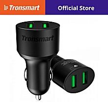 TRONSMART TS-CC2TF 36W DUAL QUALCOMM QUICK CHARGE 3.0 USB CAR CHARGER QTG-W