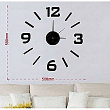 DIY decorative Wall clock- Black