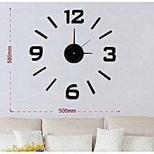 DIY decorative Wall clock- Black