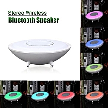 Wireless Bluetooth Speaker Touch Sensor LED Light Night Lamp Stereo For Tablet White