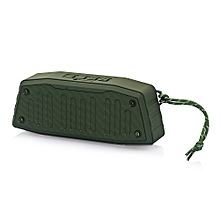 NR - 4019 Outdoor Wireless Bluetooth Stereo Speaker Portable Player-JUNGLE GREEN
