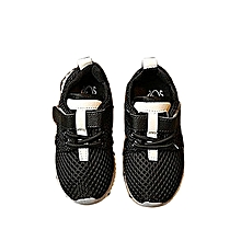 bluerdream-LED Baby Boys Girls Shoes Kids Light Up Luminous Child Trainers Running Sneakers- Black