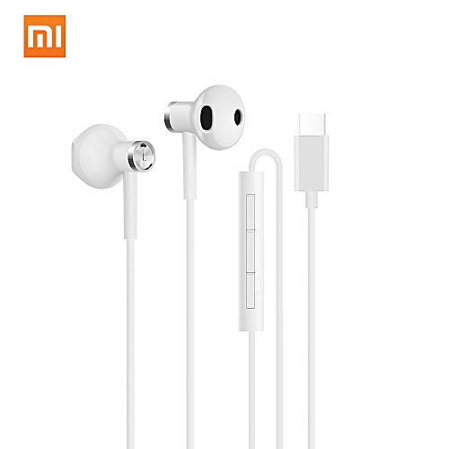 d83cc7c8275 Generic Xiaomi Dual-unit Half-in-ear Type-C Earphones MEMS Microphone Wired  Control Music Stereo Headphone Durable Earbud for Smartphone Tablet